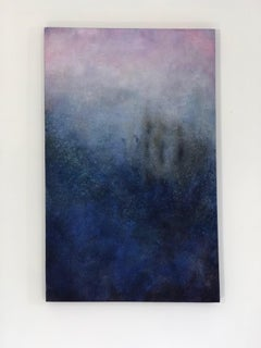"""""""Untitled Blue from the ENSO Series"""" Blue black violet painting of deep space"""
