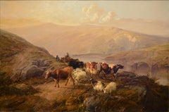 "Academic landscape, ""Drover with Cattle and Sheep"""