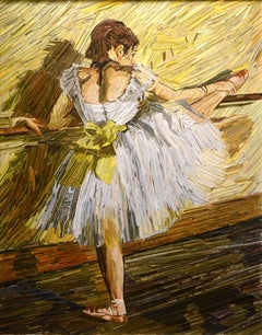 """Degas Ballet Dancer at the Barre"" by Korean artist , Kyu-Hak Lee"