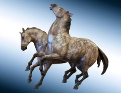"Bronze Horse Sculpture, ""Stallion Dreams"""