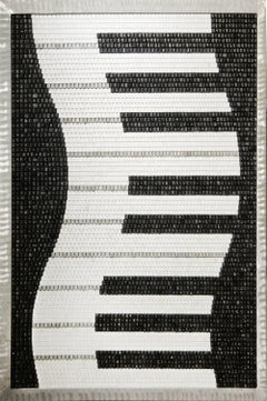 Piano Keys Mosaic