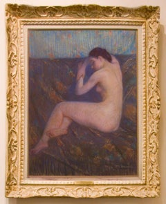 "Kronberg Pastel on Canvas, ""Dawn"" Female Nude"