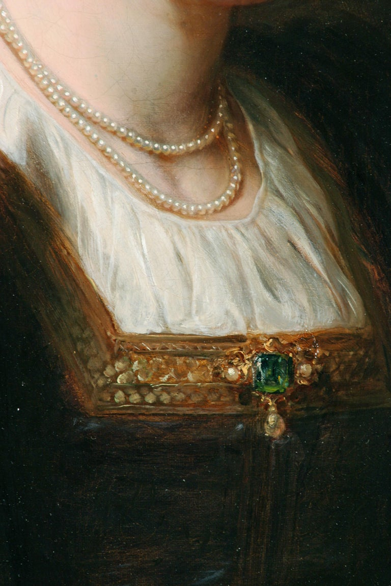 Thomas Francis Dicksee, a renowned portrait and genre painter, was the patriarch in a family of accomplished Victorian painters.   He showed an aptitude for painting at an early age executing portraits of his family and friends.  At age 19, Dicksee