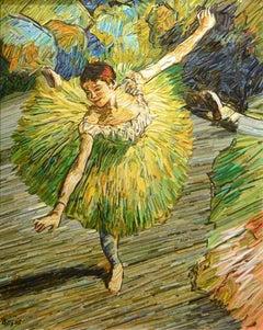 """Degas Ballet Dancer on Pointe"" by Korean artist , Kyu-Hak Lee"