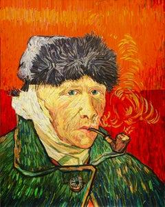 """""""Van Gogh Portrait in Red"""" by Korean artist , Kyu-Hak Lee"""