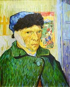"""""""Van Gogh Portrait in Green"""" by Korean artist , Kyu-Hak Lee"""