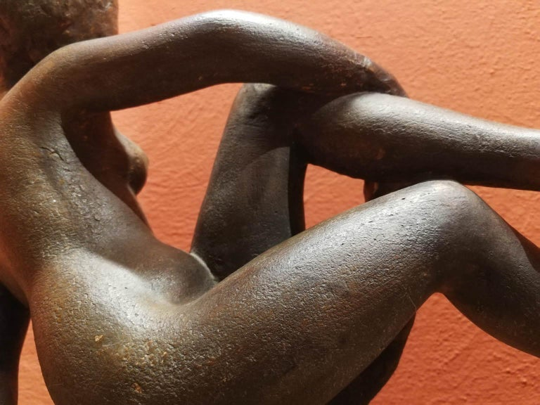 Quinto Martini, nude, first half of the 20th, terracotta, signed. For Sale 4