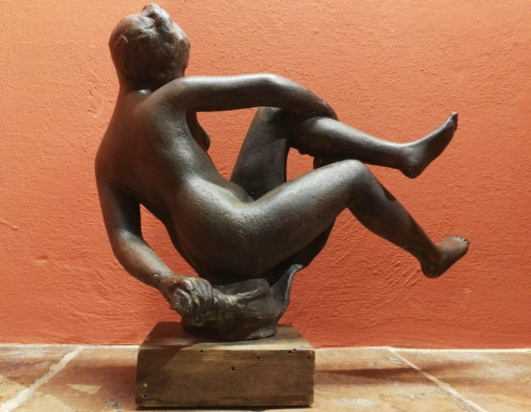 Quinto Martini, nude, first half of the 20th, terracotta, signed. For Sale 2