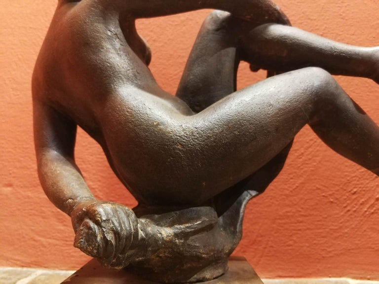 Quinto Martini, nude, first half of the 20th, terracotta, signed. For Sale 3