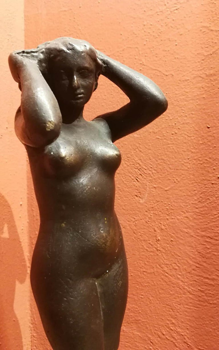 Quinto Martini, Nude, first half 20th century, bronze - Other Art Style Sculpture by Quinto Martini