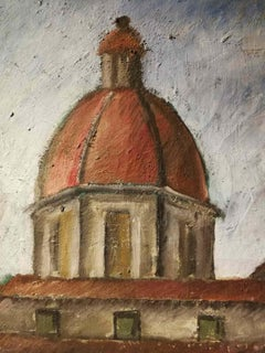 Silvio Pucci, San Frediano in Cestello, 1930s, oil on canvas, signed
