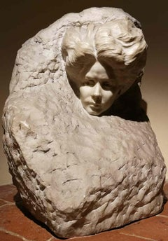 Vittorio Amedeo Leotardi, Woman's Head, 1910, marble, signed and dated