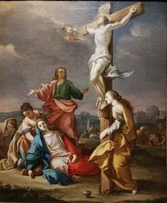 Neapolitan Artist, Crucifixion, XVIII century, oil on canvas