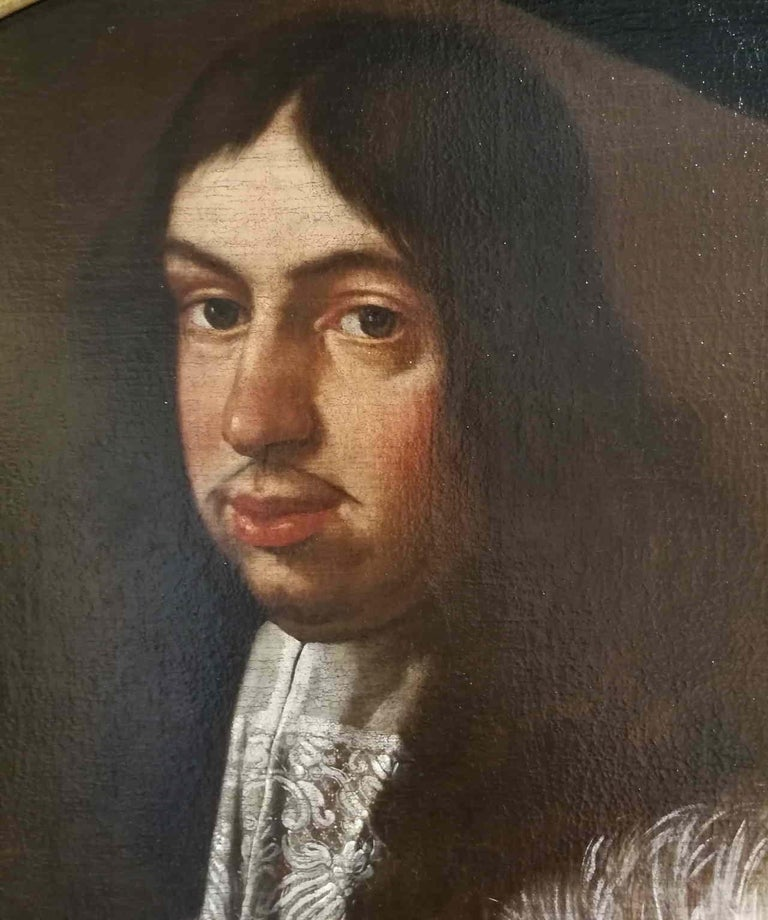 Carlo Ceresa attr., Portrait of a gentleman, half of the XVII, oil on canvas - Baroque Painting by Carlo Ceresa (attr.)