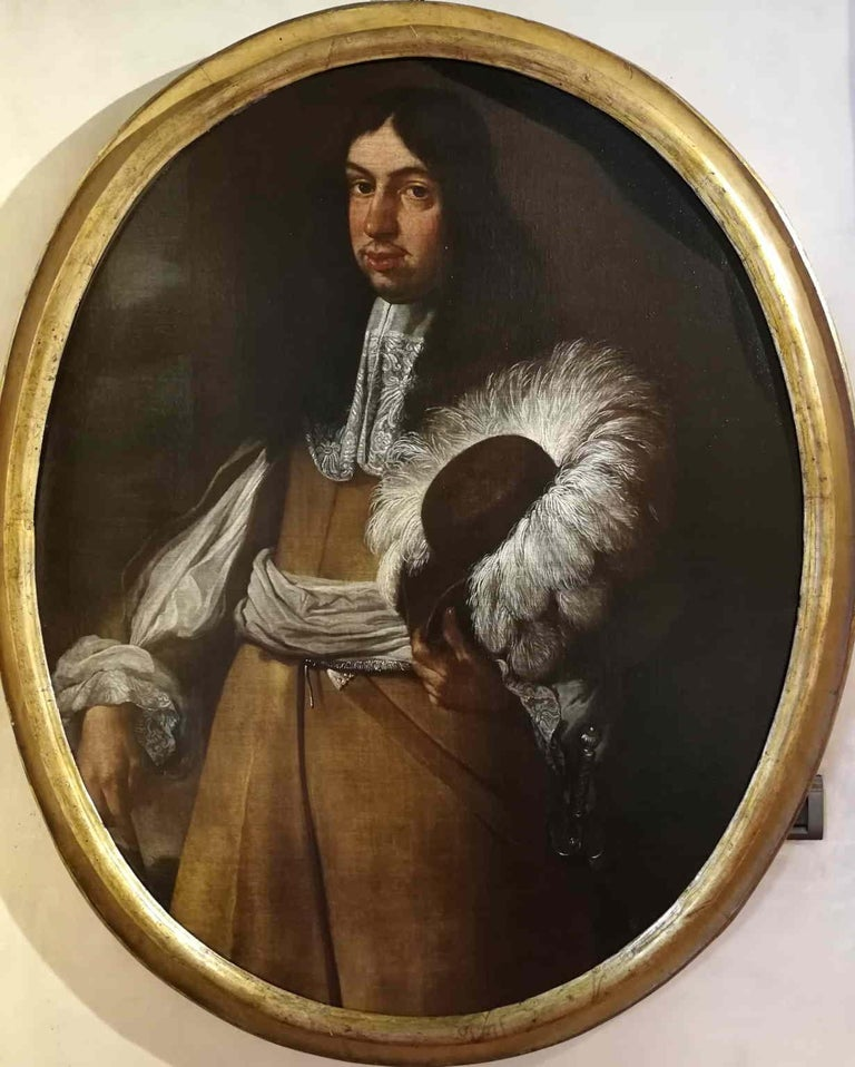 Carlo Ceresa attr., Portrait of a gentleman, half of the XVII, oil on canvas - Painting by Carlo Ceresa (attr.)