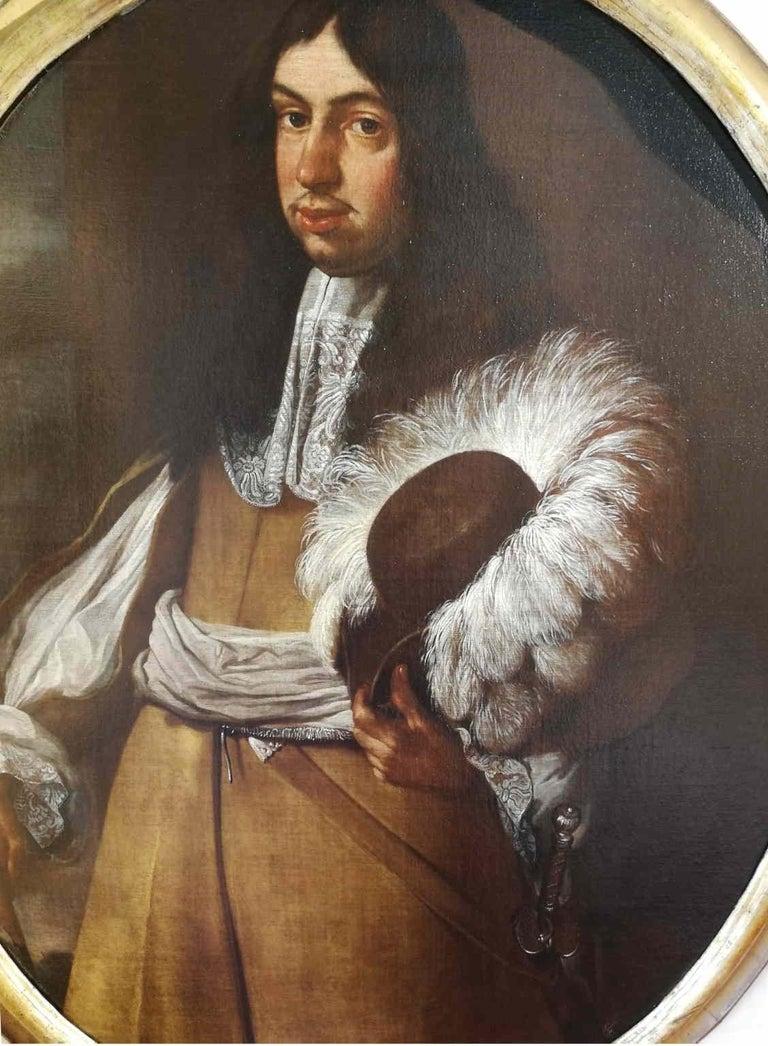 Carlo Ceresa (attr.) Portrait Painting - Carlo Ceresa attr., Portrait of a gentleman, half of the XVII, oil on canvas