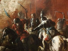 Matteo Stom, Battle between turkish and christian knights, XVII, oil on canvas