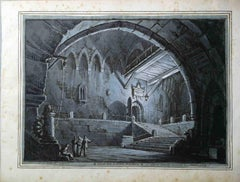 Romolo Liverani, Anne Boleyn, before 1837, ink on paper, signed and dedicated