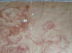 Roman Artist, Jupiter and Juno, end of the 17th, sanguine on paper