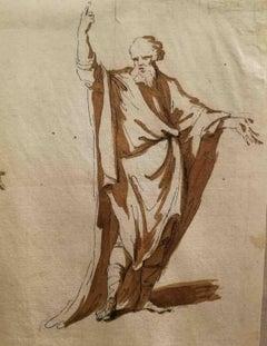 Italian Figurative Drawing 1790s pen brown ink on paper