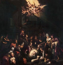 Circle of Da Bassano, Adoration of the Sheperds, end 17th, oil on canvas