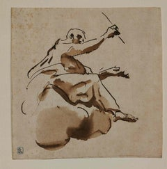 Giovanni Battista Tiepolo,Mark the Evangelist ,1730s, pen, ink and wash on paper