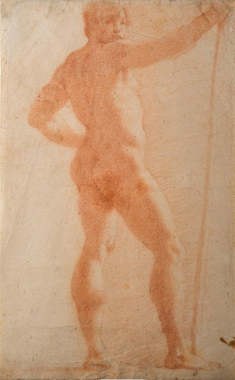 Il Volterrano Mannerist Sanguine Nude Drawing 1640s For Sale 1