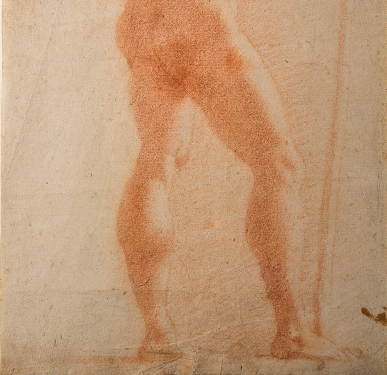Il Volterrano Mannerist Sanguine Nude Drawing 1640s For Sale 2