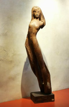 Bruno Innocenti, Female Nude, 1966-1967, wood, signed and dated