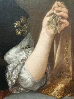 J. F. Voet (circle of), Female portrait, second half 17 century, oil on canvas