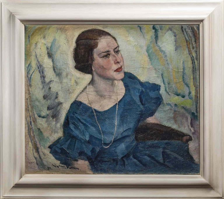 Johann Walter-Kurau  Portrait Painting - J. Walter-Kurau, Portrait of a lady, 1920, oil on canvas, signed and dated.