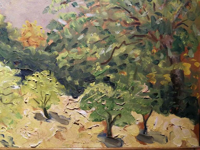 Giovanni Colacicchi, Landscape, 1943, oil on wood For Sale 1