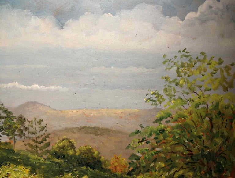 Giovanni Colacicchi, Landscape, 1943, oil on wood For Sale 2