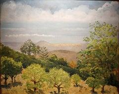 Giovanni Colacicchi, Landscape, 1943, oil on wood