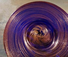 Murano, Plate, 1920s, goldstone (avventurine glass)