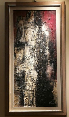 Maro Nuti, Serie of the city, 1962, oil on canvas, signed, titled and dated