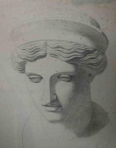 Italian Artist, Study from an antique sculpture, early 19th, pencil on paper