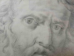 Bernardino Orsetti, Portrait of a bearded man, early 19th, pencil on paper
