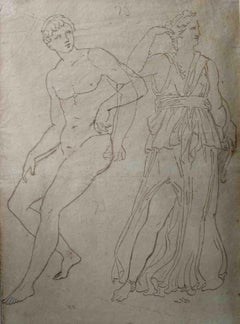 Neoclassical Academia Drawing Study 19 century pencil paper