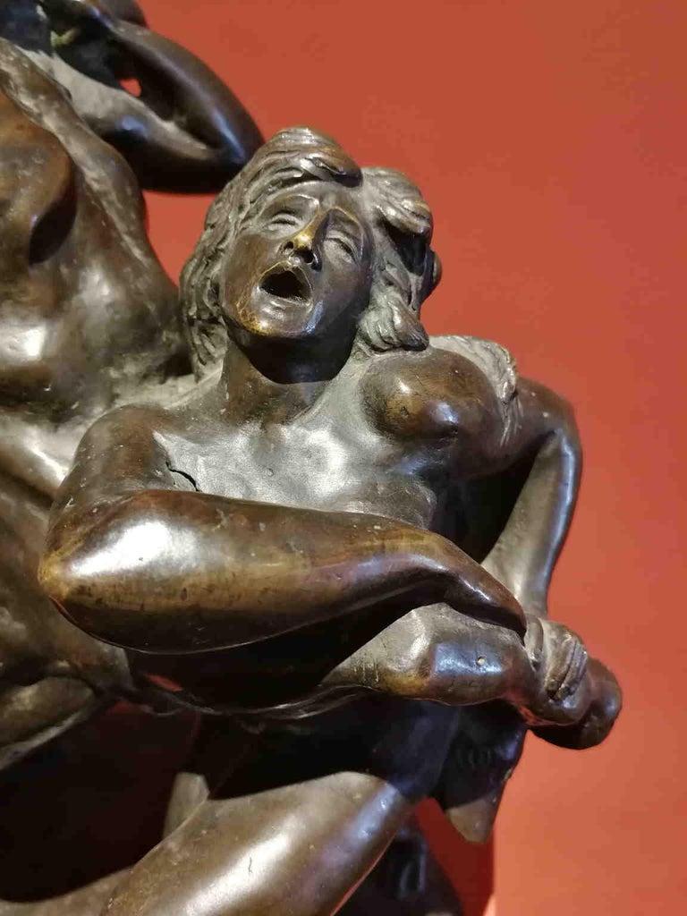 Augusto Rivalta, Hercules and the centaur Nessus, half 19 century, bronze - Gold Nude Sculpture by Augusto Rivalta