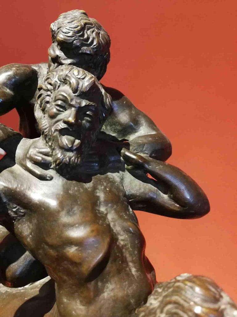 Augusto Rivalta, Hercules and the centaur Nessus, half 19 century, bronze - Sculpture by Augusto Rivalta
