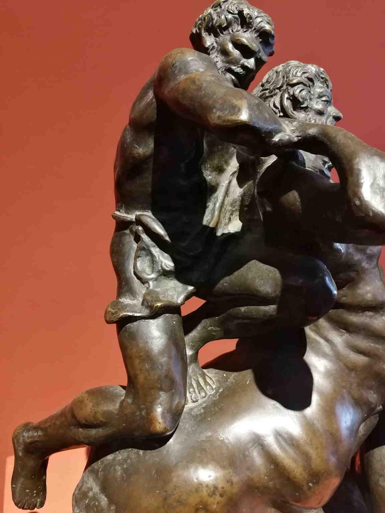 Augusto Rivalta, Hercules and the centaur Nessus, half 19 century, bronze For Sale 1
