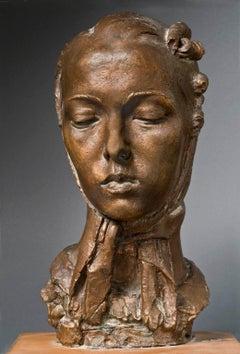 Bruno Innocenti Female Portrait Bronze Statue 1935