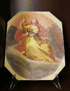 Cristofano Rustici, 4 Cardinal Virtues, end of 16 century, tempera on canvas