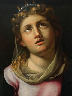 Luca Longhi (attr.), Saint Catherine, first half 16 century, oil on wood