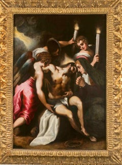 Circle of Palma il Giovane, The Lamentation of Christ, 16th-17th, oil on wood