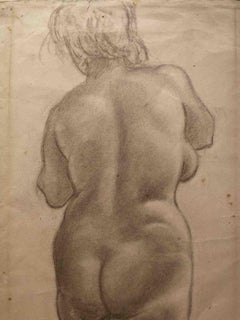 Unknown, Female Nude, 19th, pencil on paper