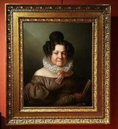 Giuseppe Molteni, Potrait of a Lady, 1830s, oil on canvas