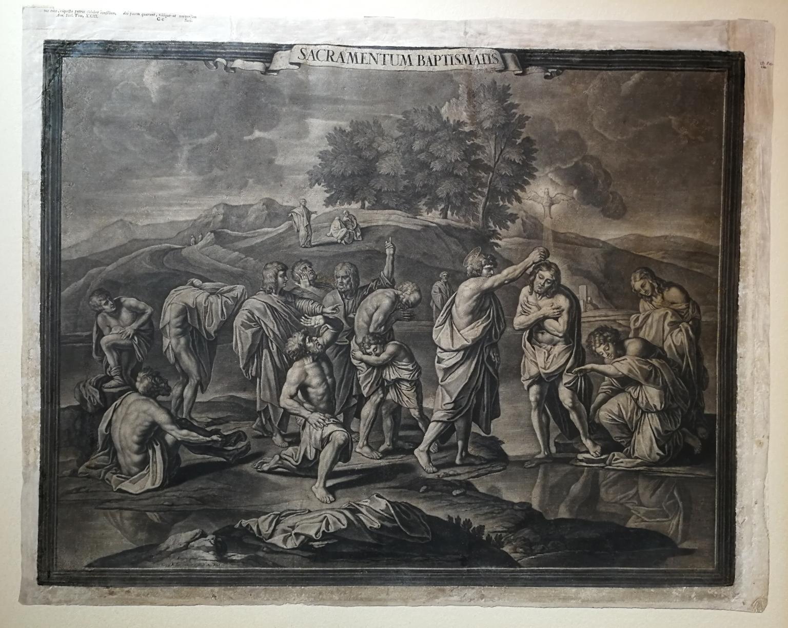 After Nicholas Poussin Seven Sacraments Prints 18th century mezzotint paper