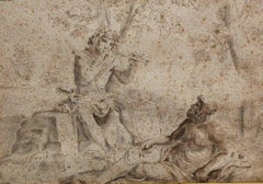After Simone Cantarini, Mercury and Argus, early 19th, pencil on paper